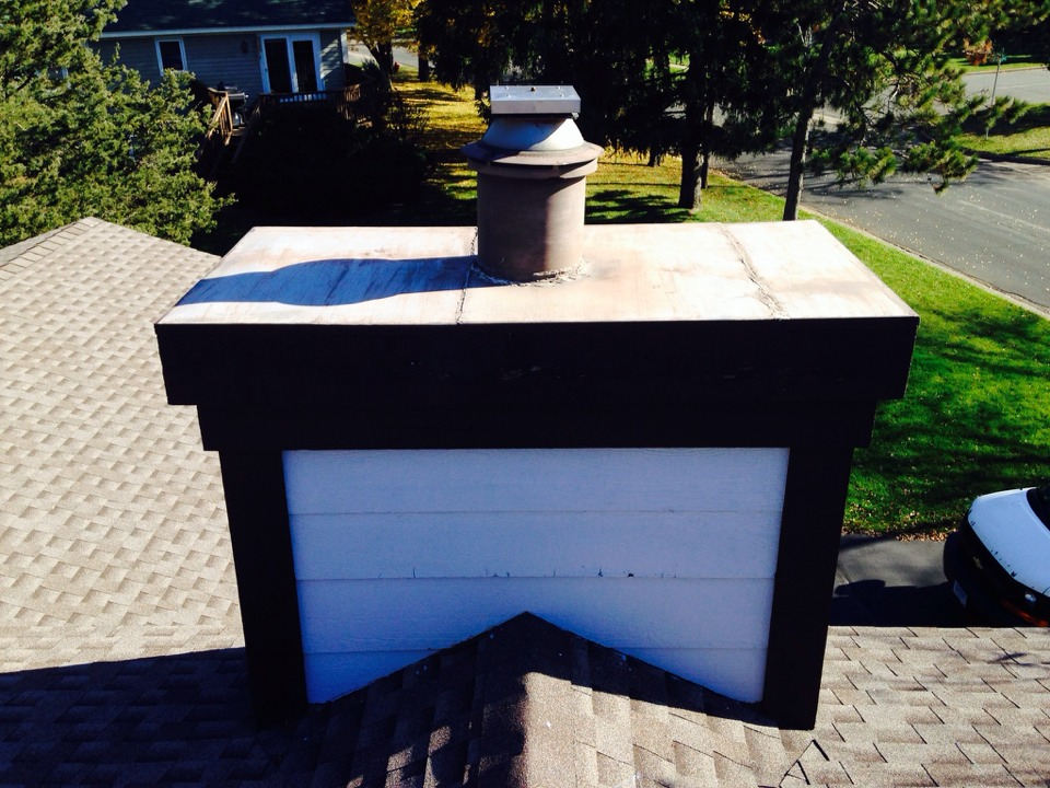Hudson, WI - Giving an estimate to replace chase cover
