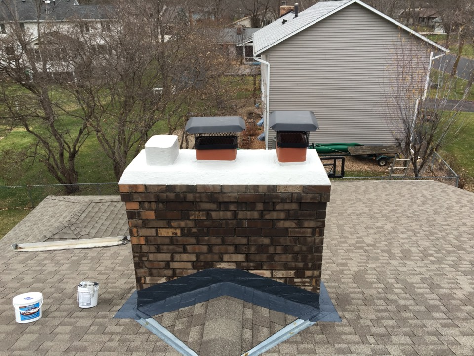 Maple Grove, MN - Sealed exterior chimney