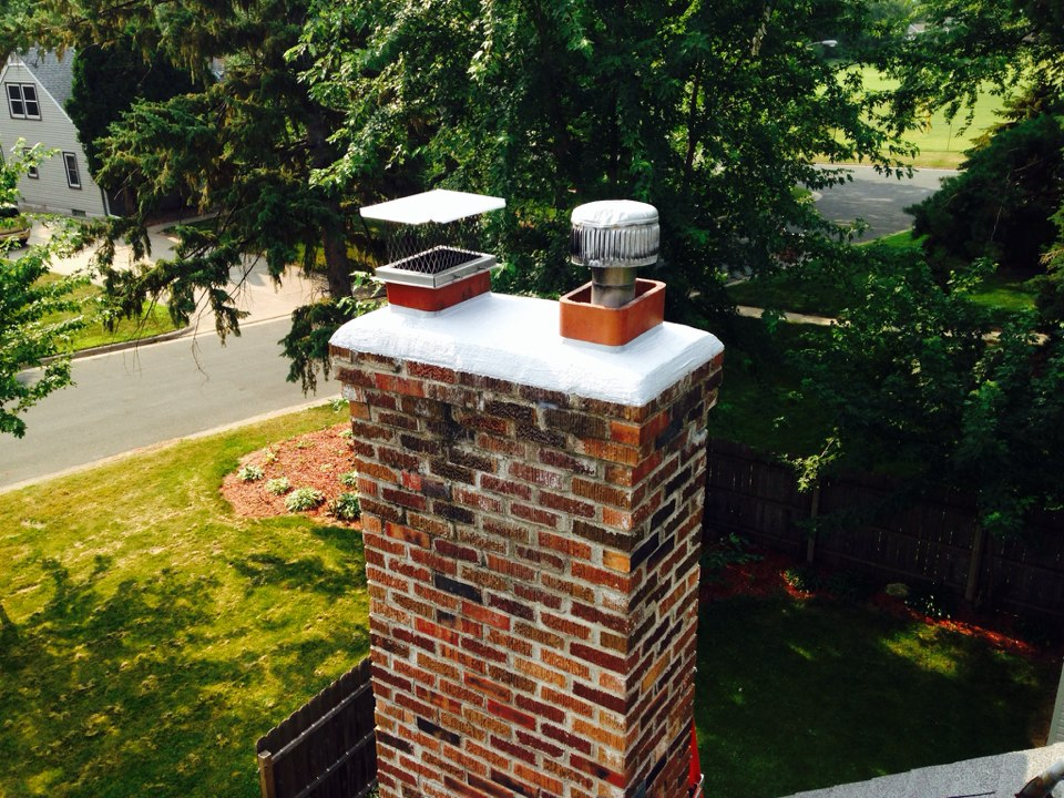 Richfield, MN - Reseated crown on chimney