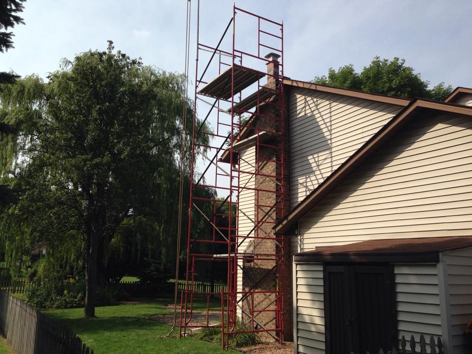 Burnsville, MN - Exterior chimney rebuild