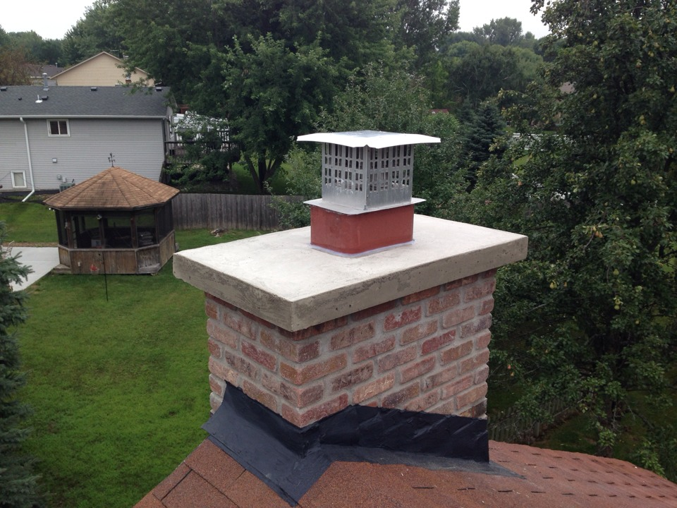 Burnsville, MN - Roof up! Chimney restoration...