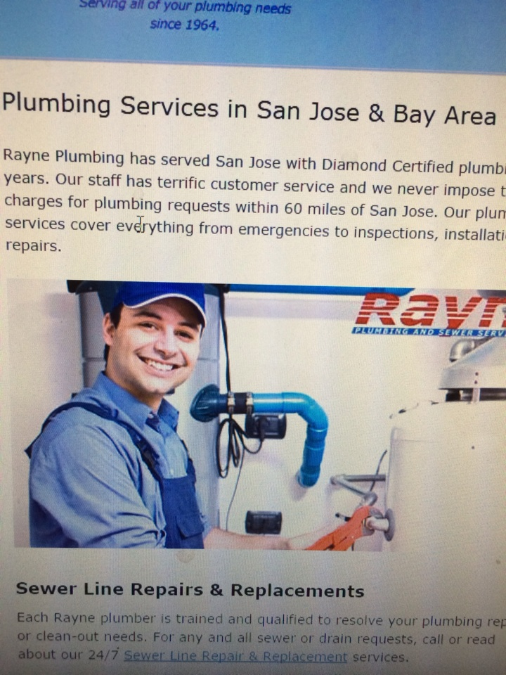 San Jose, CA - Repipe estimates. Plumber San Jose. Water leaks