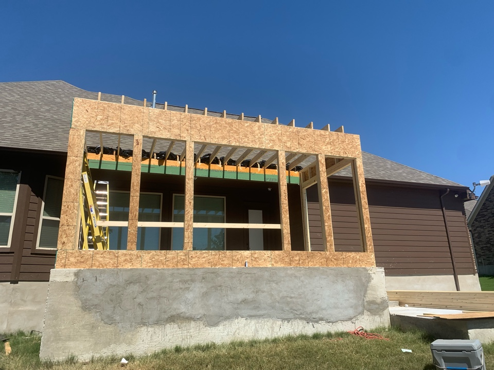 Castroville, TX - Came to see the progress on home addition.