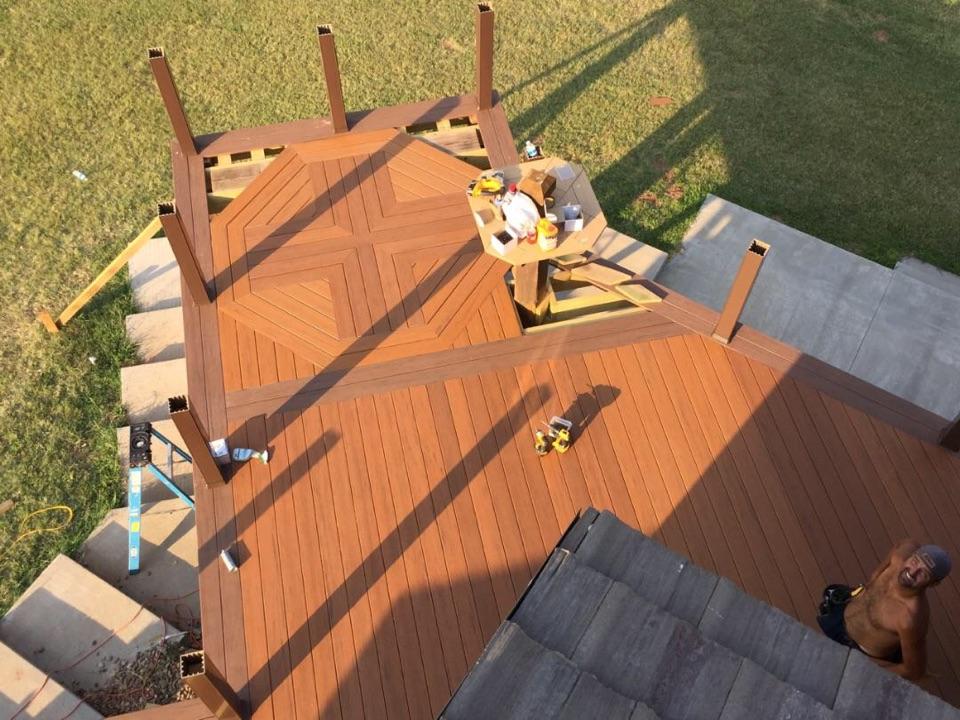 Wichita, KS - Timber Tech deck in Medicine Lodge. Making progress!