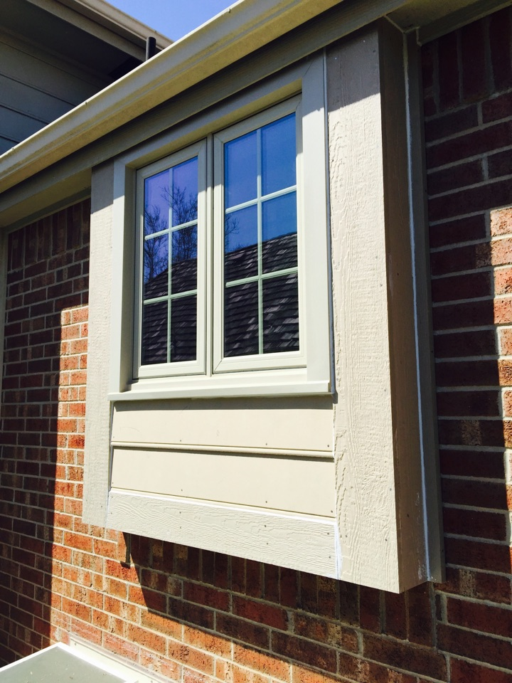 Wichita, KS - Siding replacement and replacement windows. Taking care of some water damaged siding and trim. Maintenance free windows. Smarstside siding.