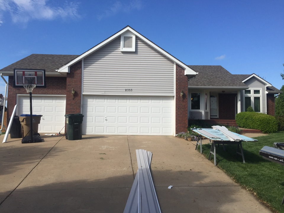 Wichita, KS - Permanent soffit facia and pouch ceiling maintenance-free