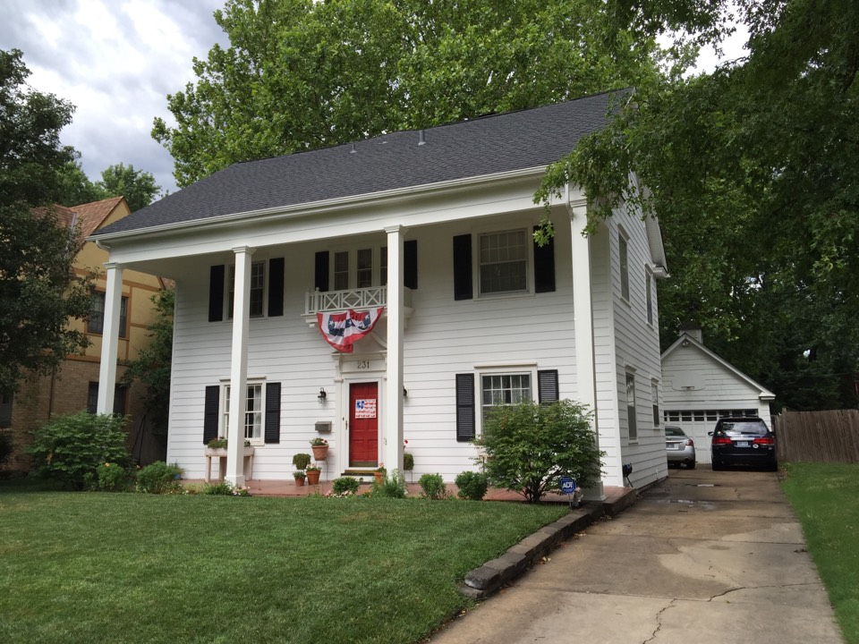 "Wichita, KS - Maintenance free, ""Everlast"", advanced composition siding on big, beautiful house in College Hill. New porch columns and overhang trim."