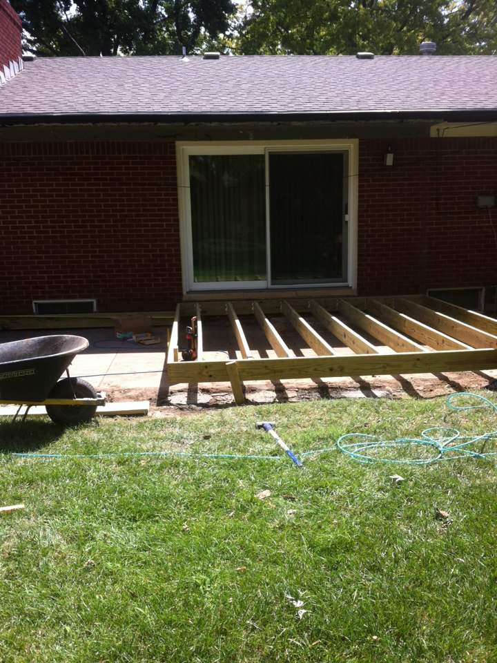 Wichita, KS - Oooooooboy!... A brand new deck coming up out of the ground starting today... More to come ....