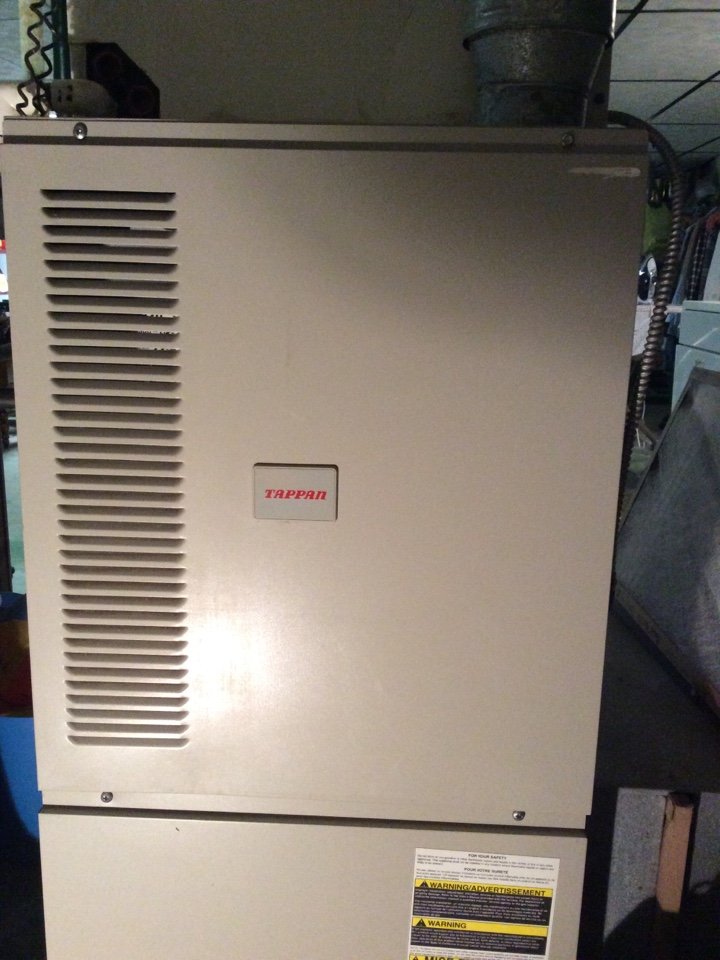 Parsippany-Troy Hills, NJ - SERVICE. REPAIR ON TAPPAN FURNACE. REPLACE IGNITOR.