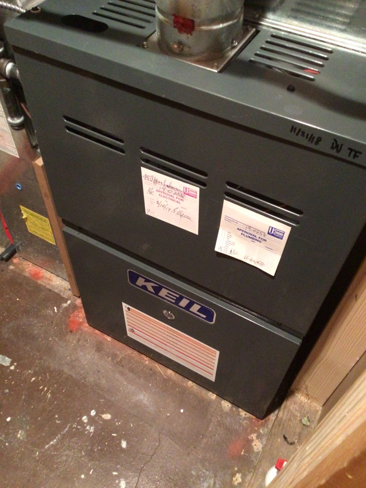 Oakland, NJ - PERFORMED TWENTY POINT PRECISION TUNE UP ON GOODMAN GAS FURNACE