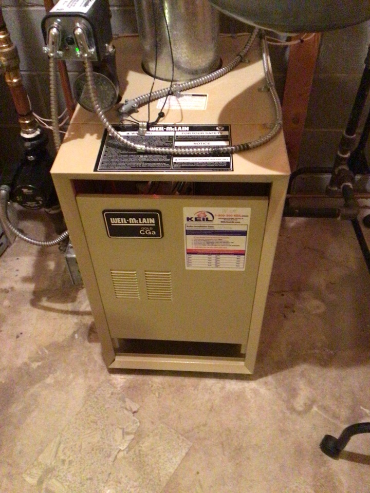 Midland Park, NJ - PERFORMED TWENTY POINT PRECISION TUNE UP ON WEIL MCCLAIN GAS BOILER