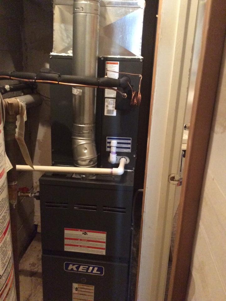 Verona, NJ - Install Goodman Furnace, coil, and condenser