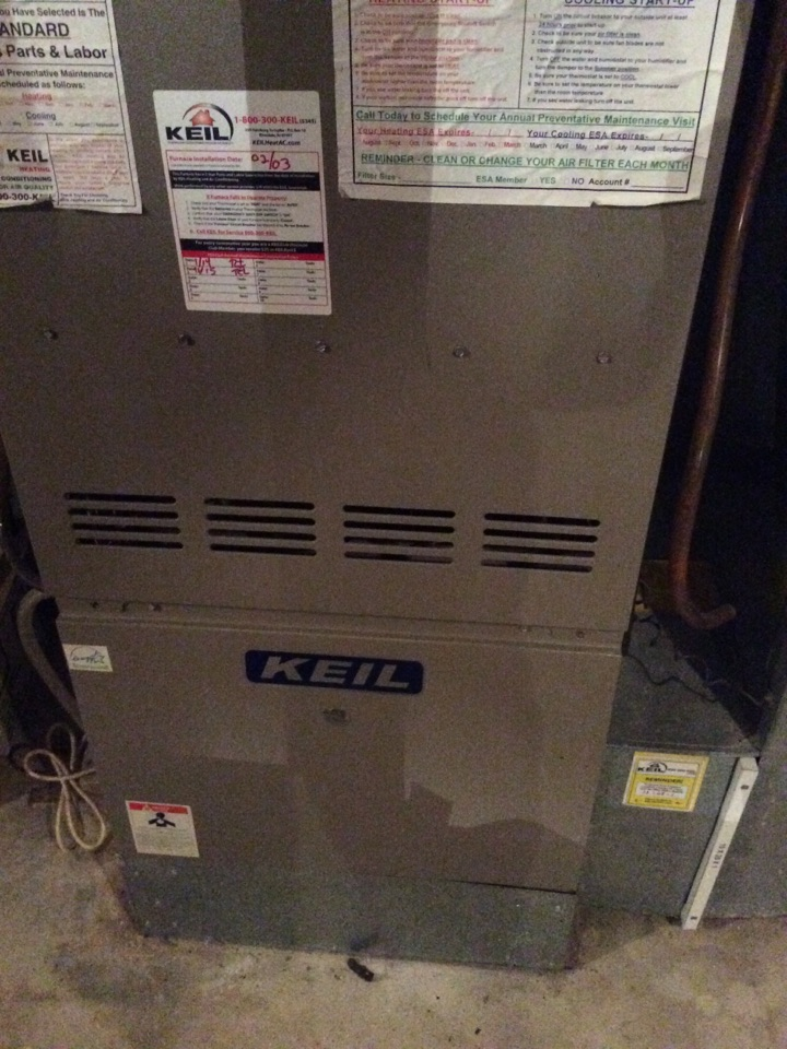 Vernon Township, NJ - PERFORM MAINTENANCE ON A GOODMAN PROPANE FURNACE
