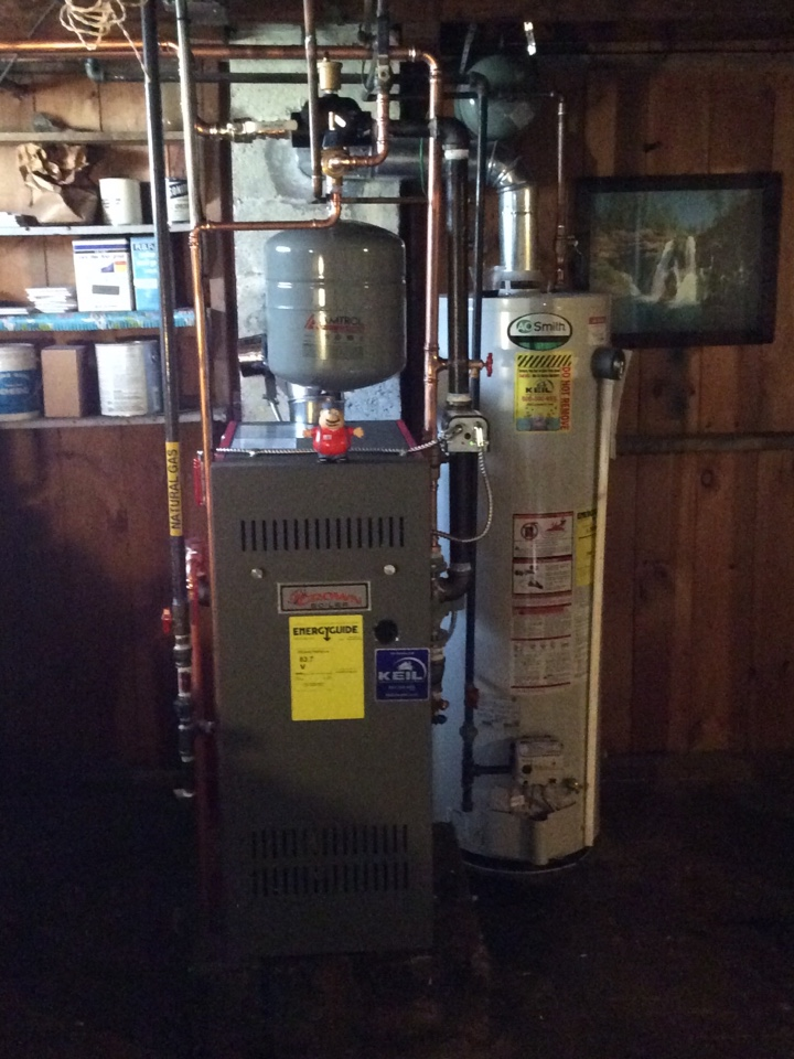 Totowa, NJ - Install crown gas fired hot water boiler