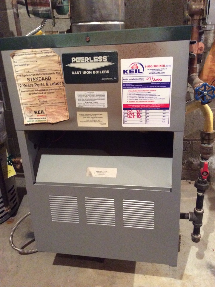 Sparta Township, NJ - PERFORM ANNUAL MAINTENANCE ON A PEERLESS GAS BOILER