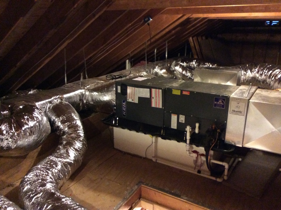 Denville, NJ - Install 3 ton Goodman overhead high velocity air conditioning  system denville