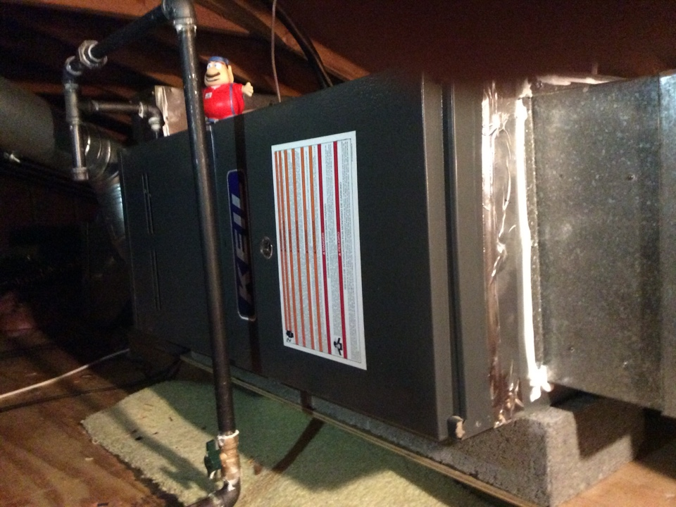 Ramsey, NJ - emergency service repair on 60 btu hot air gas furnace near Ramsey Bergen County