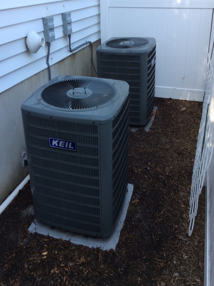 Franklin Lakes, NJ - PERFORMED PERPETUAL 20 POINT PRECISION TUNE UPS ON TWO GOODMAN AIR CONDITIONING SYSTEMS.