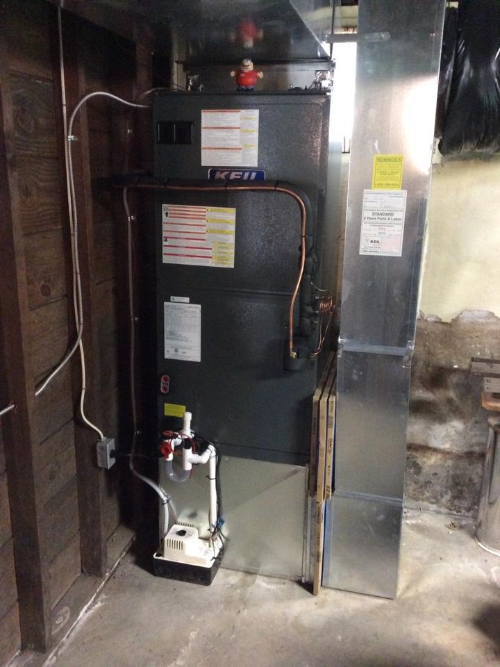Midland Park, NJ - Install Goodman 4 ton AC system