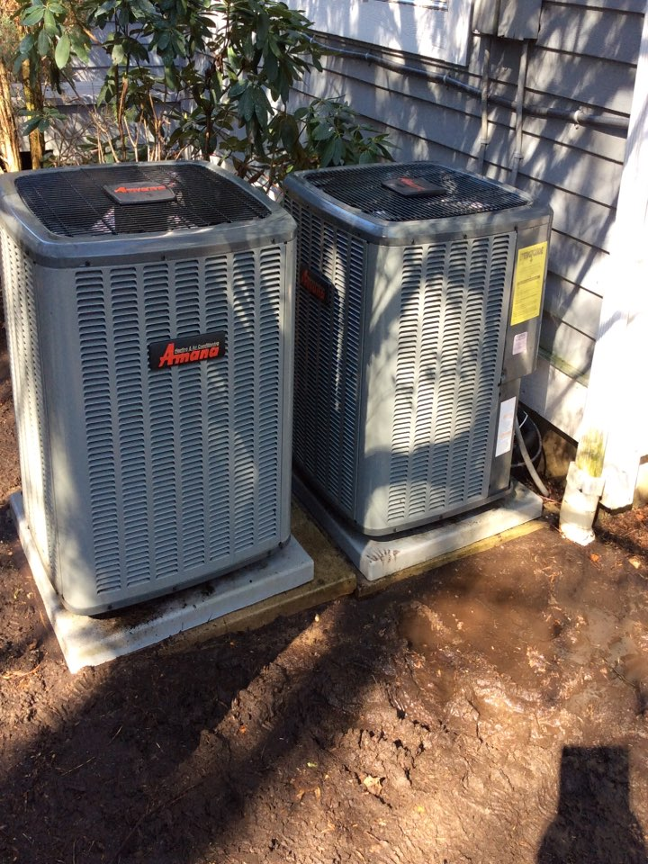 Wyckoff, NJ - PERFORMED 20 POINT PRECISION TUNE UP ON TWO AMANA AIR CONDITIONING SYSTEMS.