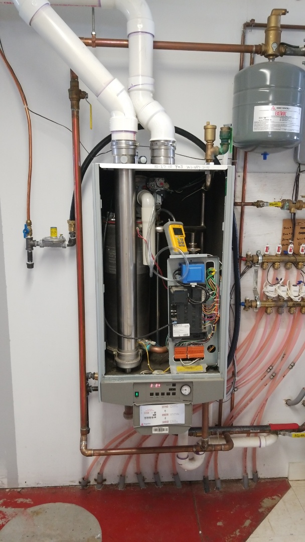 Service on a Triangle Tube boiler