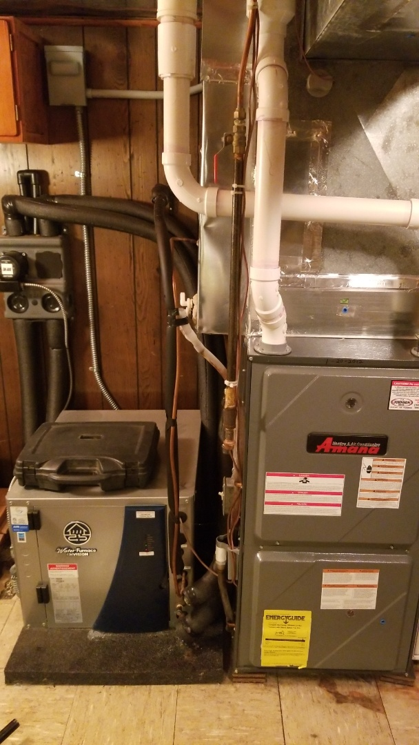 Maintenance on a Water Furnace geothermal