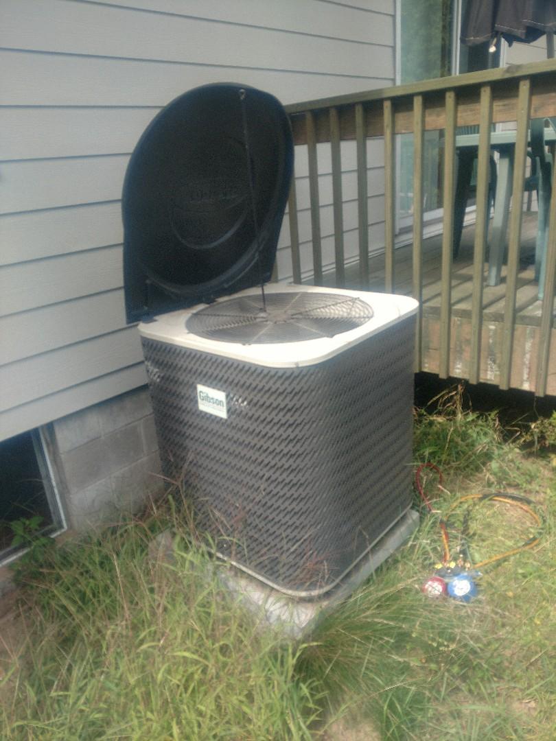 Princeton, MN - A/C maintenance. Tune up on Gibson heat pump.