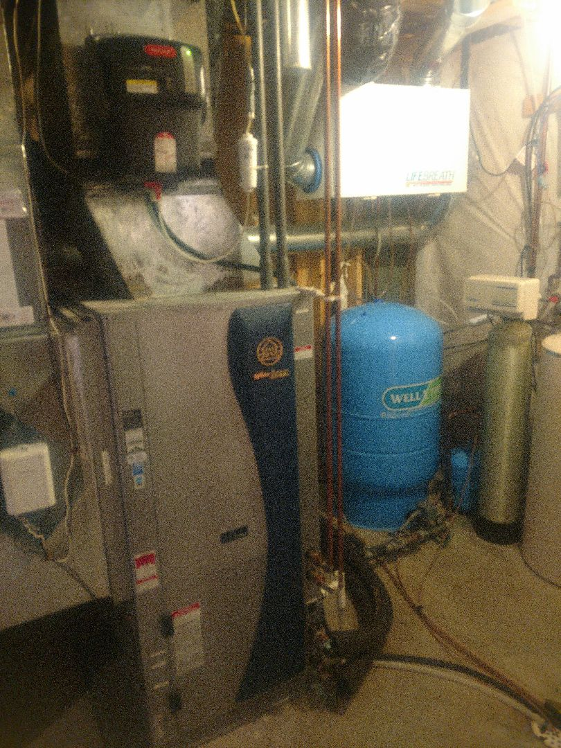 Princeton, MN - Waterfurnace geothermal service. Water heater maintenance. HRV service.