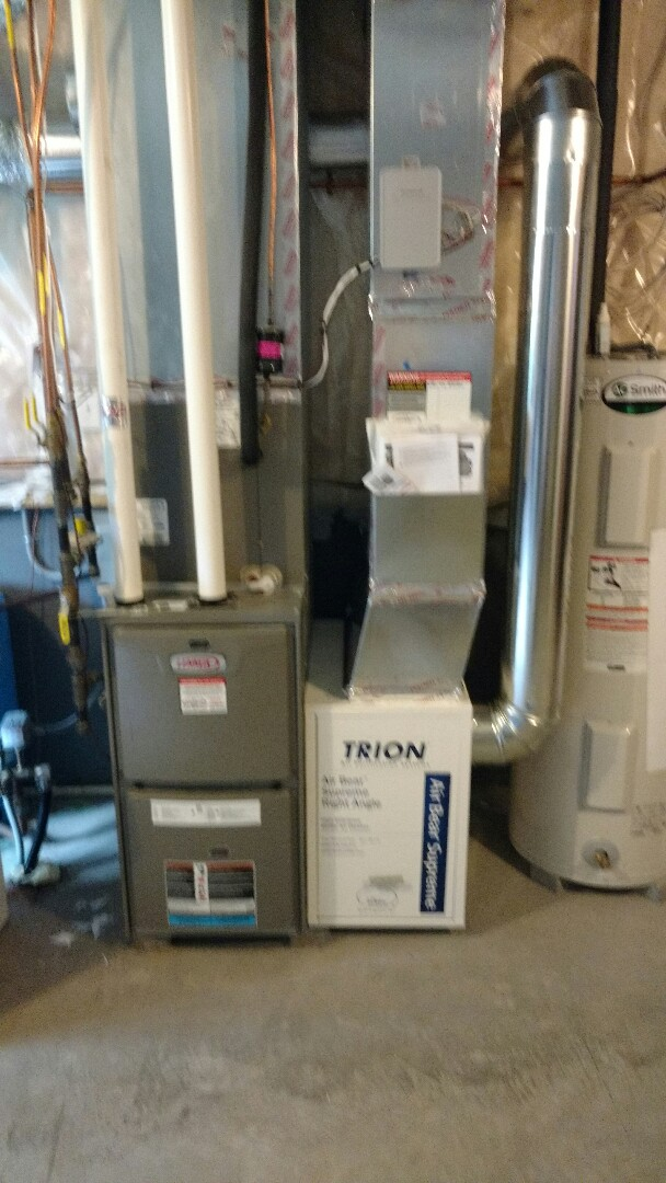 Princeton, MN - Performed installation of Air Bear Filtration System and Honeywell Prestige Thermostat.
