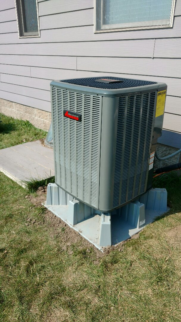 Rush City, MN - Installation of air source heat pump.