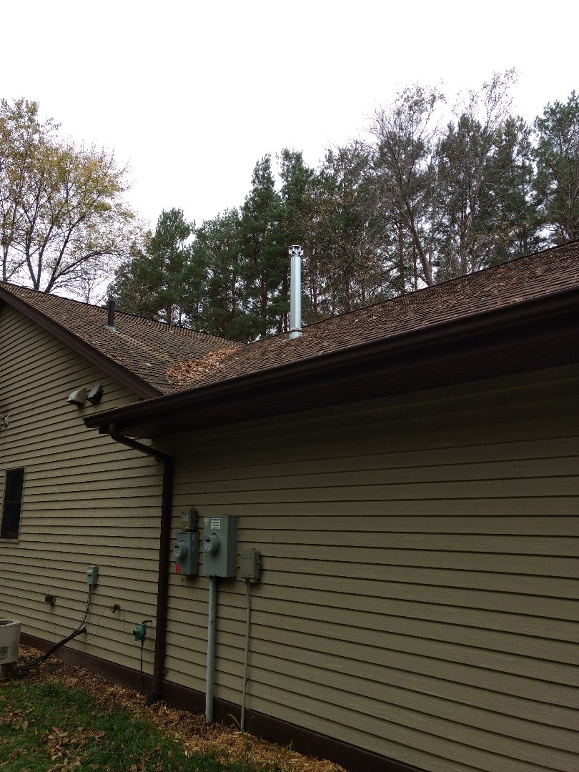 Stanchfield, MN - Installation of Class B Venting for heating system.