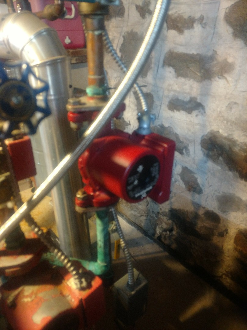 Stanchfield, MN - Boiler Service call. Circulator pump replacement Grundfos
