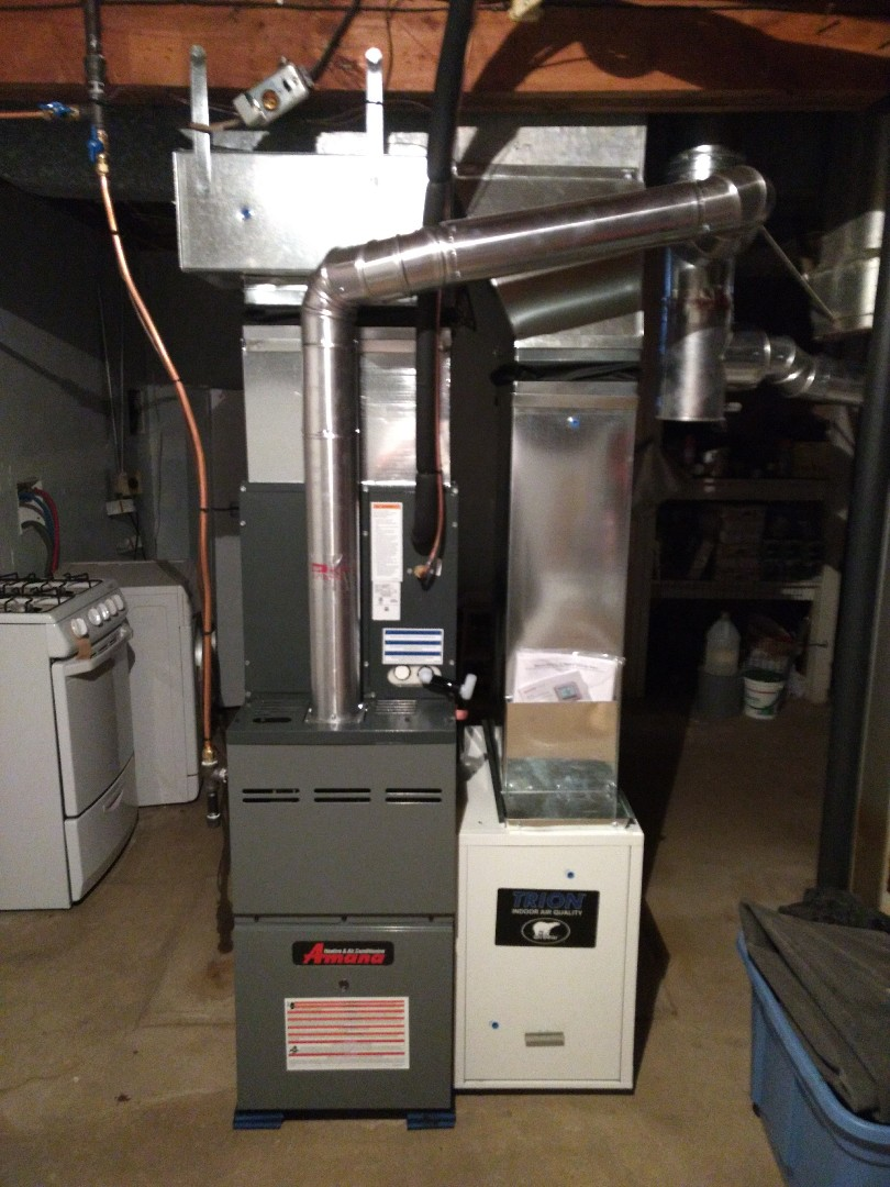 Installation of Furnace and A/C system.