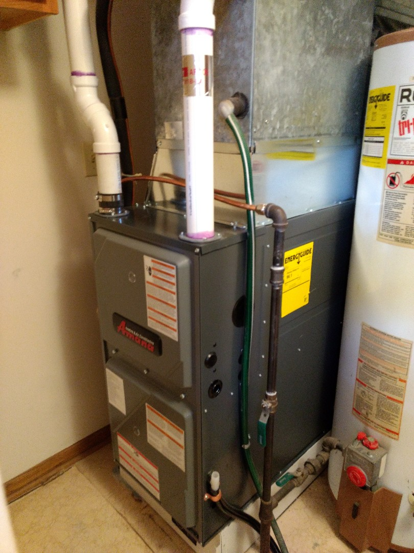 Stanchfield, MN - Installation of high efficient furnace.