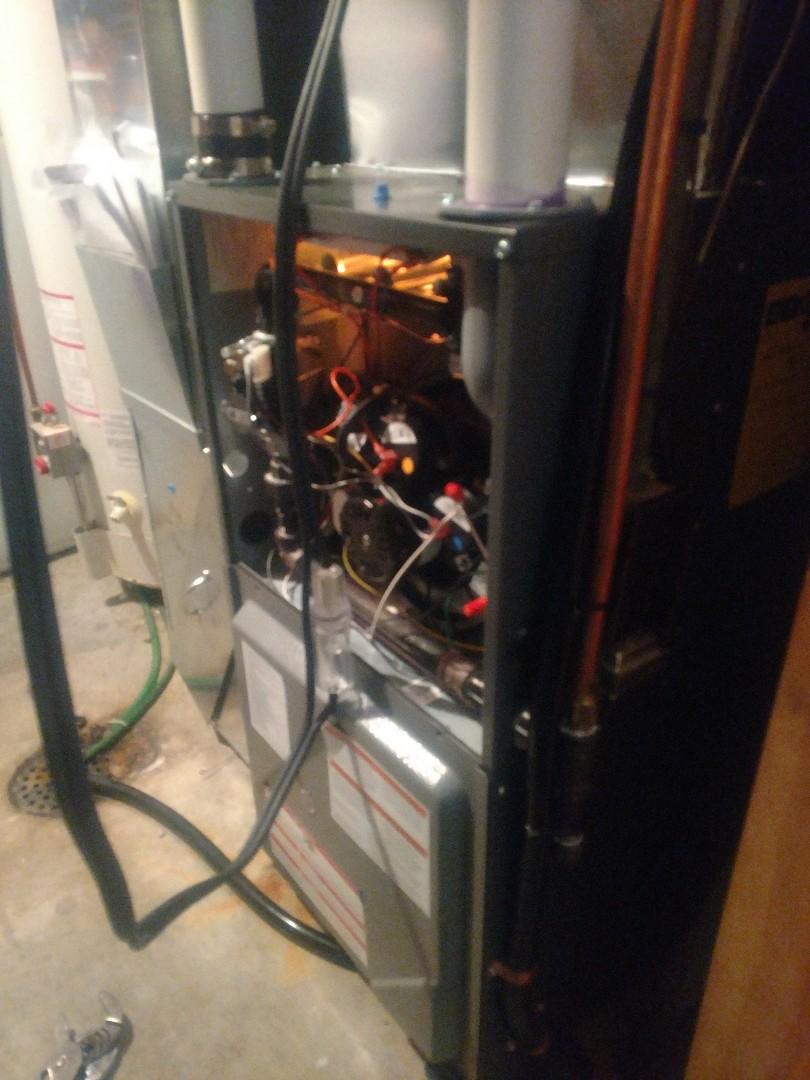 Princeton, MN - Furnace service repair call. Repair Amana Furnace