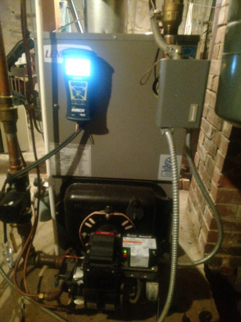Mora, MN - Lennox oil boiler maintenance service.
