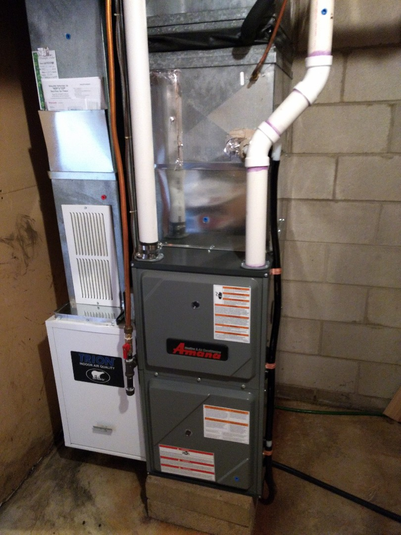 Isanti, MN - Installation of high efficient furnace.