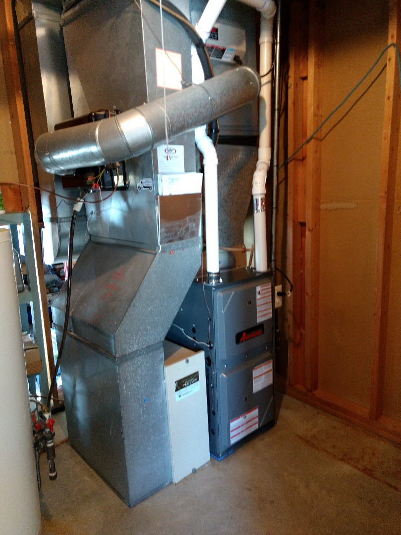 Isanti, MN - Installation of high efficiency furnace.