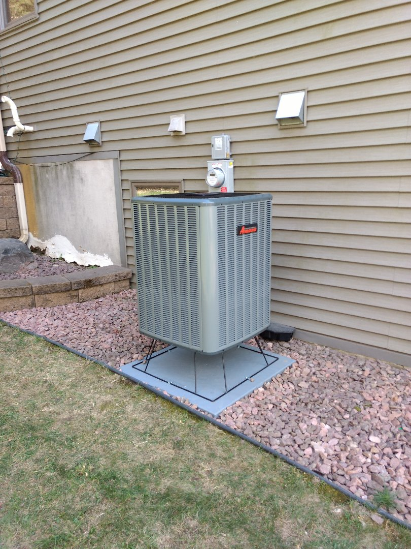 Stanchfield, MN - Installation of Air Source Heat Pump.