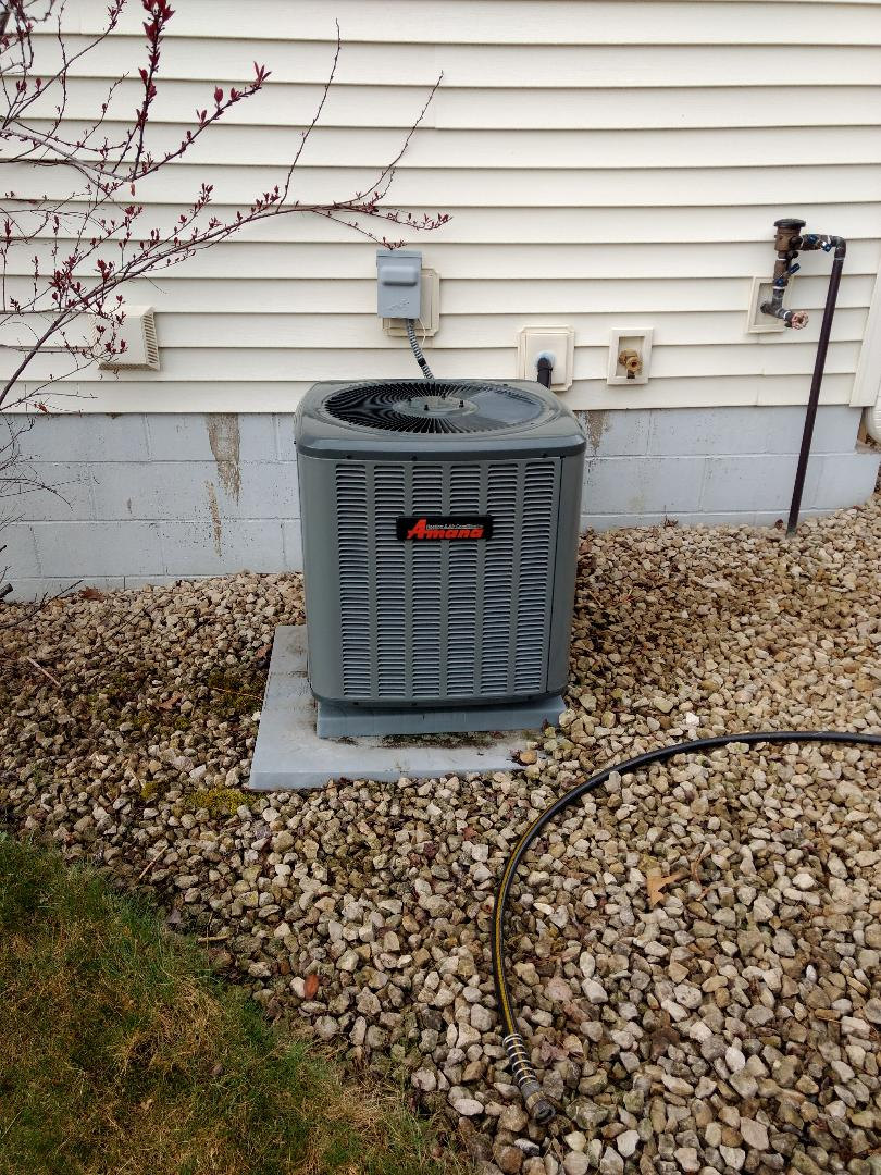 Stanchfield, MN - Installed new air conditioning system.