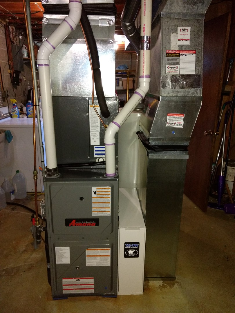 Cambridge, MN - Installation of Furnace and A/C system.