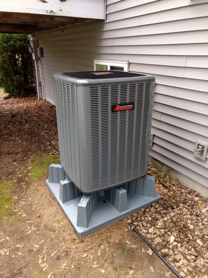 Princeton, MN - Installation of Air source heat pump.