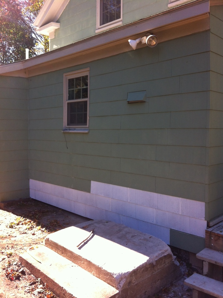 Danvers, MA - Just finished cement siding repair for a family in Danvers ma