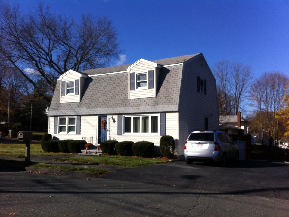 Peabody, MA - Estimating a roof that has definitely exceeded its life in Peabody  for one of my past customers