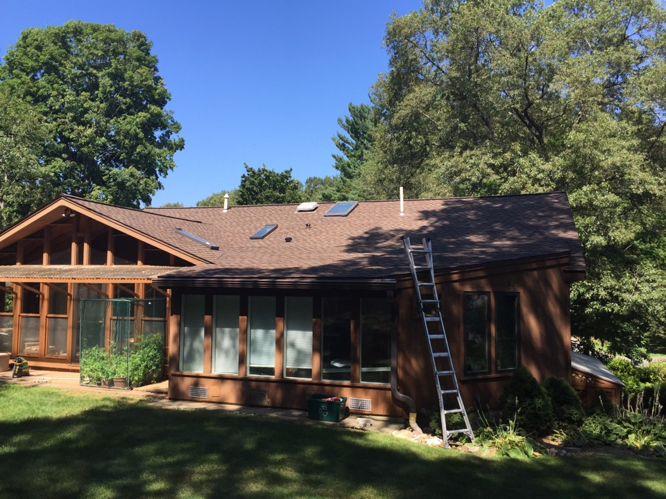 Danvers, MA - Checking on the final product of another recently completed roof project  looks good. Customer happy