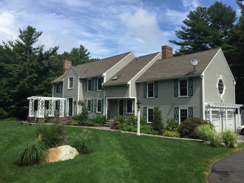 Lynnfield, MA - Estimating a roof project on a home that was re roofed recently by someone who don't use enough ice and water underpayment which caused the new owner to experience massive internal damage this past winter