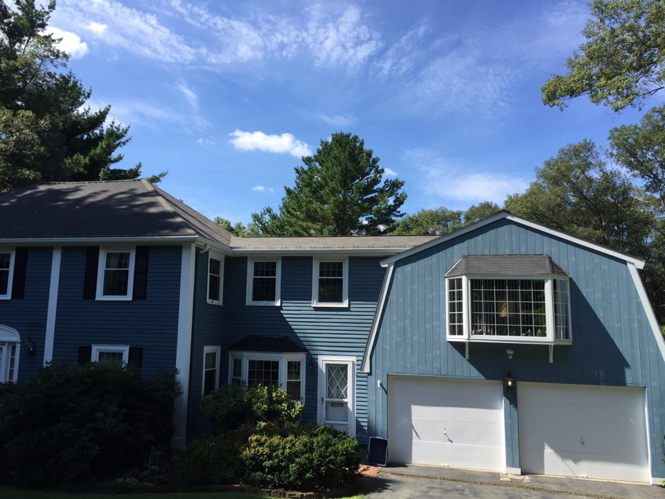 Lynnfield, MA - Checking on a recently completed roof project in Lynnfield that needed better ice dam protection
