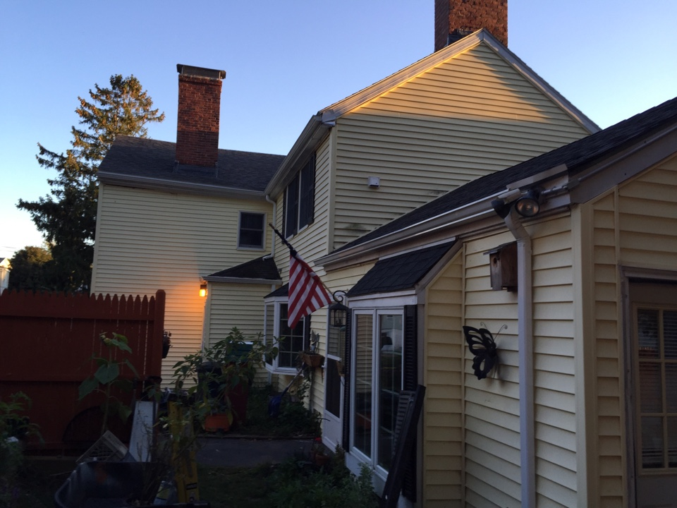 Peabody, MA - Securing a trim coverage project that involves some vinyl siding and re roofing on an old house in Peabody