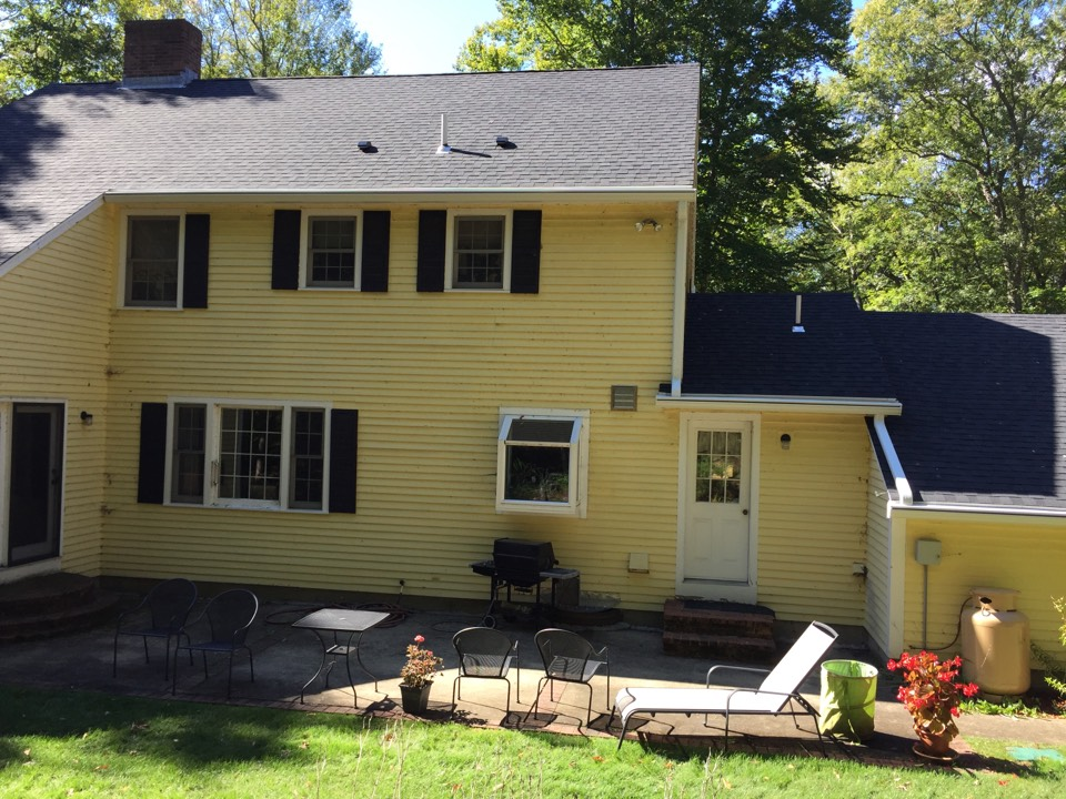 Boxford, MA - Checking on a recently completed gutter protection project where we used gutter shutter in Boxford