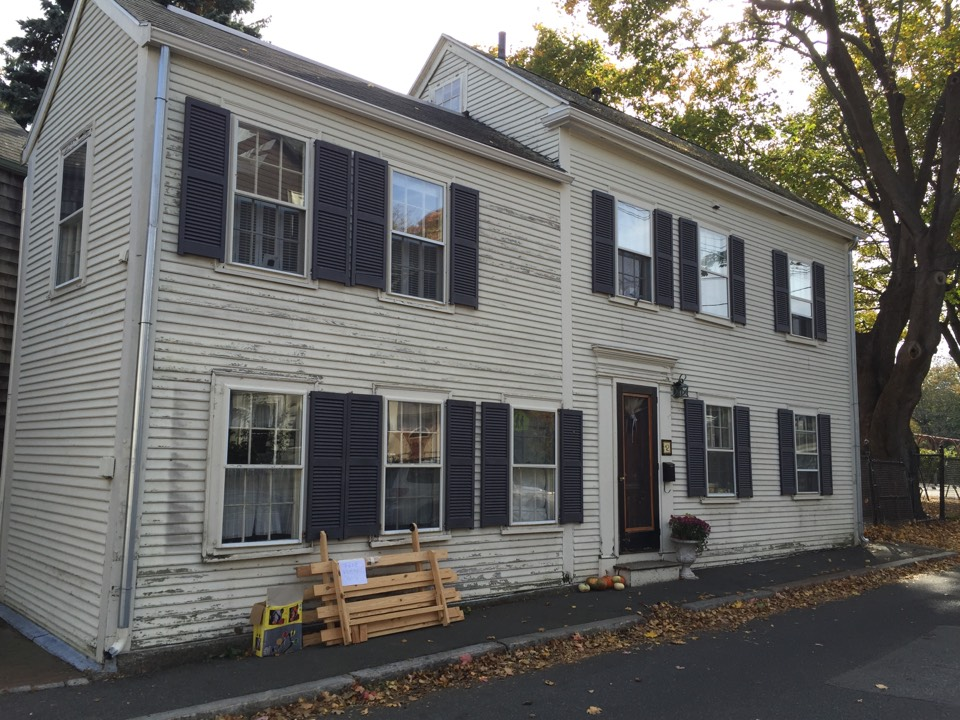 Marblehead, MA - Checking on a gutter job recently completed that required a decent amount of carpentry in Marblehead